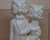 Owl couple Ceramic Wedding Cake Topper