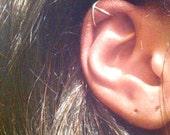 Criss Cross Ear Cuff, Cartilage Ear Cuff, No Pierce Ear Cuff, Simple Ear Cuff, Fake Cartilage Earring, Fake Helix Piercing, Gift Under 15