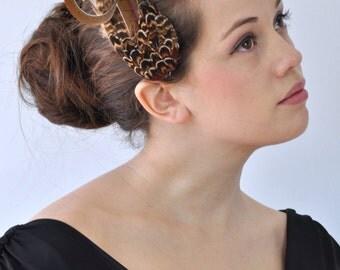 SALE - Elegant Fascinator Pheasant Feather Hair Clip