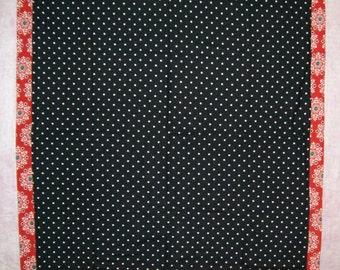 Snowflakes and Polka Dots Baby Blanket