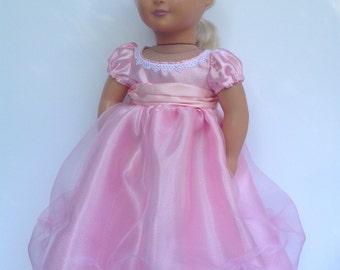 Pink princess doll dress, fits 18 inch dolls, fairy tale princess dress, party dress