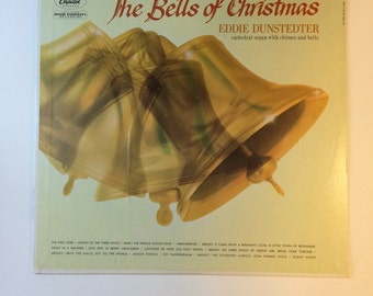 Vintage Christmas Album The Bells of Christmas Eddie Dunstedter Cathedral Organ With Chimes and Bells Full Dimension Stereo Christmas Music