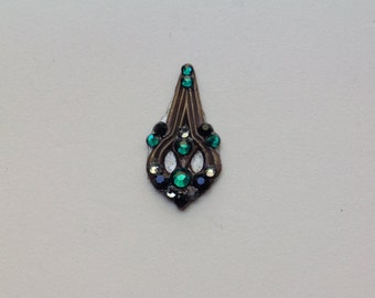 Brass Nouveau Swarovski Crystal Bindi