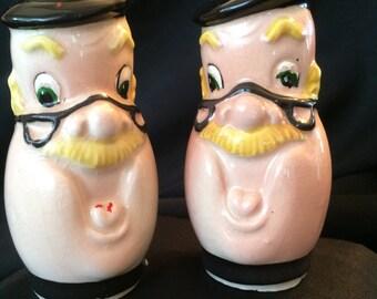 Vintage Man Head Salt and Pepper Shakers - Shafford??