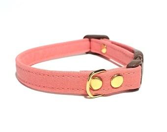 Salmon Pink Cat Collar