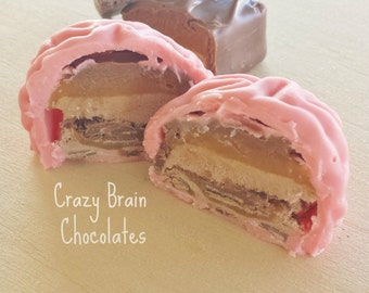 Milky Way Filled Chocolate Brains (6)