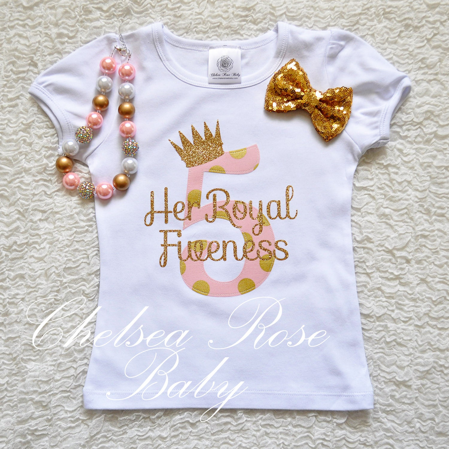 Pink And Gold Birthday Shirt Personalized Birthday Shirt