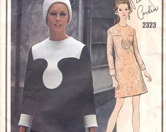 Pierre Cardin Mod Dress Pattern Vogue Paris Original 2323 Size 14
