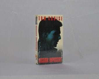 Vintage VHS Tape Mission Impossible 1996 Sealed - Tom Cruise - Spys - Missions - Stealing - TV Series - Ethan Hunt - CIA - Fighting - Cruise
