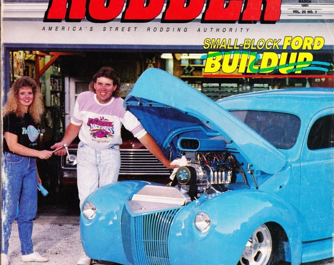 Vintage Street Rodder Magazine, March 1991, Engine Special, Small Block, Ford Buildup, Fat Fenders, Carb Detailing, Inliners, Motor