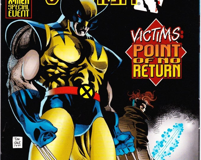 Vintage Wolverine Gambit Victims Comic Book Volume 1 Number 4 December 1995 Marvel Comic - Point Of No Return - Arcade - Mastermind - Logan