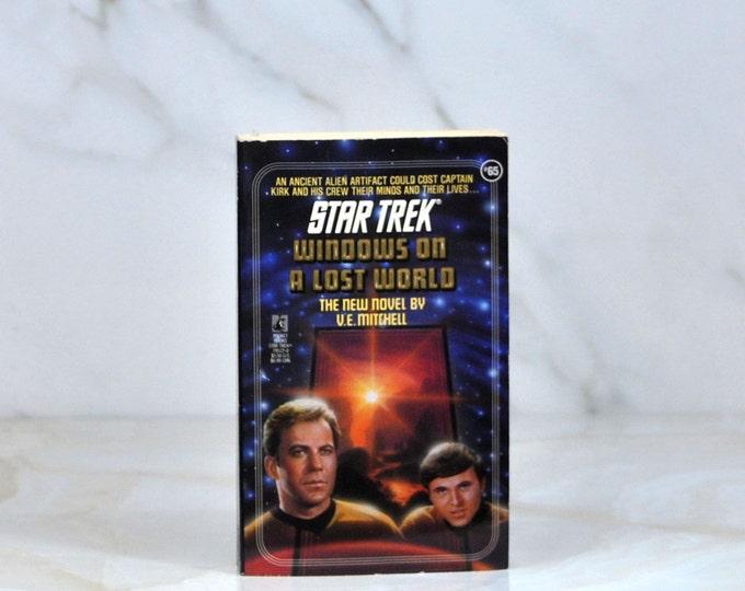 Vintage Paperback Book Star Trek The Original Series Windows On A Lost World #65 1993 - Captain Kirk - Careta IV - Aliens - Spock - Chekov