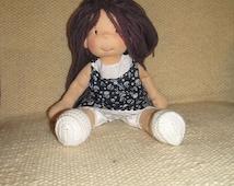 "Waldorf doll, waldorf inspired doll, steiner doll, organic doll, 15"" tall doll, fabric doll, cloth doll, handmade, gift for her"
