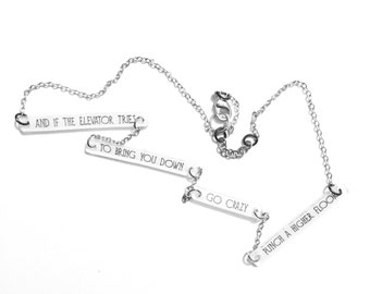 Prince Jewelry // Let's Go Crazy Necklace // Prince Necklace // Prince Lyrics // Music Jewelry // Lyrics Necklace // Purple Rain