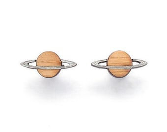 Saturn planet stud earrings - astronomy gifts - planet earrings - science earrings - astronomy jewelry - gift for science teacher