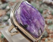 Sterling Purple Charolite Ring