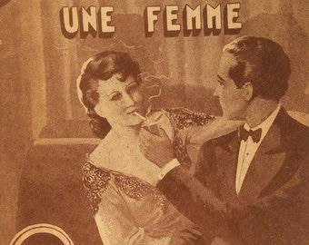 Vintage French 1950s ROMANCE  Novel Magazine LOVE Ferenczi edition