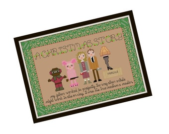 A Christmas Story Cross Stitch Pattern - Pixel People Christmas Cross Stitch Pdf - Holiday Cross Stitch Pattern