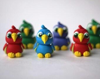Fondant Parrot Topper - Parrot Fondant Topper - Fondant Bird Topper - Edible Parrot Topper - Pirate Fondant Topper
