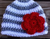 Baby Ohio State color hat