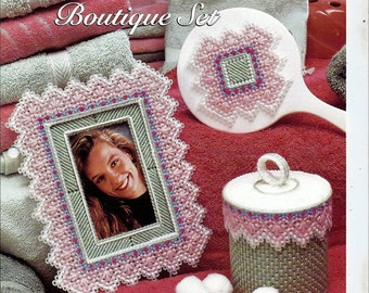 Linked Hearts Boutique Set Plastic Canvas Collector's Series Pattern The Needlecraft Shop 964040