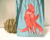 Greeting card, fox trot card, holiday card