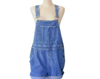 Deadstock Plus Size Overall XL Overall Women Overall Denim Overall Shorts Denim Shortall Salopette Short Dungarees Bib Over Alls Blass
