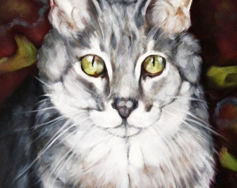 Custom Pet Portrait, Oil Painting, Pet Portrait, Cat Painting, Animal Portrait, 8x10