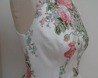 Handmade FLORAL dress - BARGAIN price Stunning for wedding/baptism/celebration