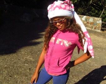 Pink Poka Dots Quadropus H@t