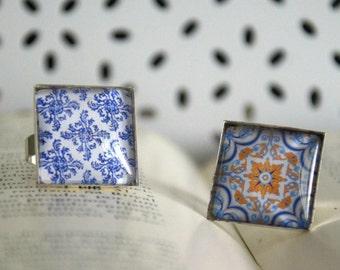 Azulejo Portuguese Tiles inspired Ring(12 designs)