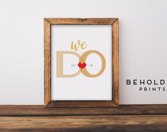 Wedding Print, Wedding Gift, Wall Art, Typography Print, Modern Print, Minimalist Print, Poster
