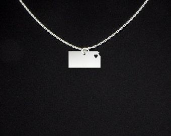 Kansas Necklace - Kansas Jewelry - Kansas Gift