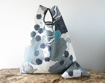 market bag from nordic design / cotton tote bag / capacious shopping bag / winter wedding welcome bag / gift for new mom