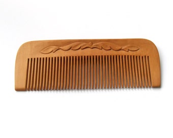 Wooden hair comb, Pocket comb, suitable for men, Natural eco friendly, personalize, wood carving, Hand carved, Handmade by MariyaArts