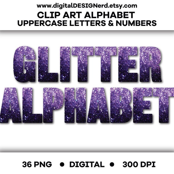 purple glitter letters numbers digital clipart 79 high clip alphabet purple glitter uppercase letters amp numbers 209