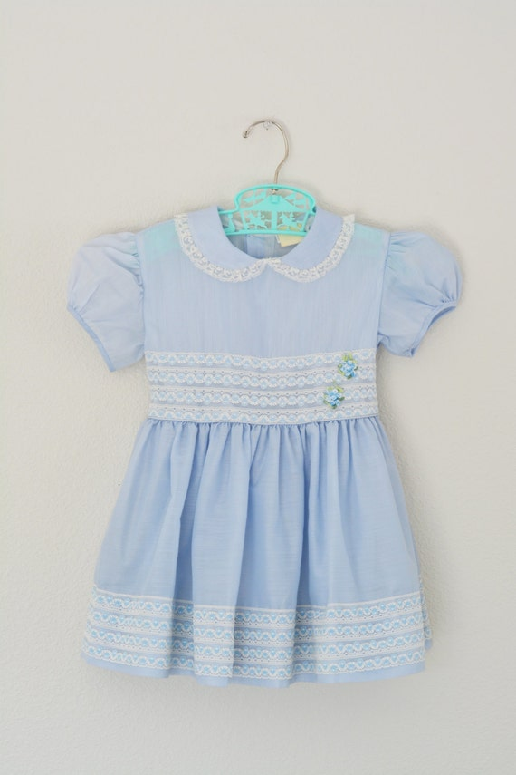 Little Girls Dress Vintage 1950s