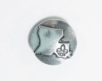 1 PC 18MM SHOP Exclusive Louisiana Fleur De Lis Silver Candy Snap Charm Cc1183