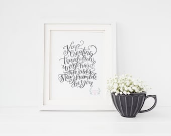 The Creative Process Hand Lettering Digital Print // Instant Download