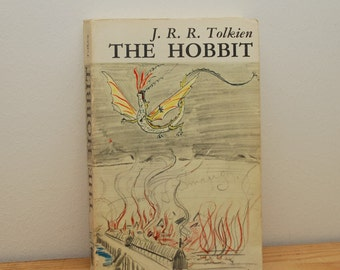 The Hobbit by JRR Tolkein, vintage paperback book, Unwin Books, 1970s, Lord of the Rings