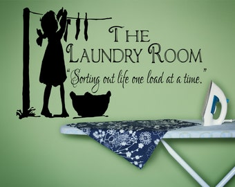 Laundry Room Decor, Laundry Sign, Laundry Room Decal, Laundry Decal, Laundry Room Sign, Vinyl Wall Decal, Laundry Room- WD0043