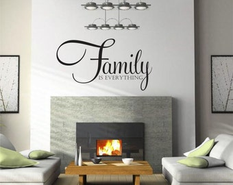 Family Is Everything, Family Wall Decal, Family Decor, Family Sign, Family Picture Wall, Family Tree Picture Wall, Family Decal - WD0104