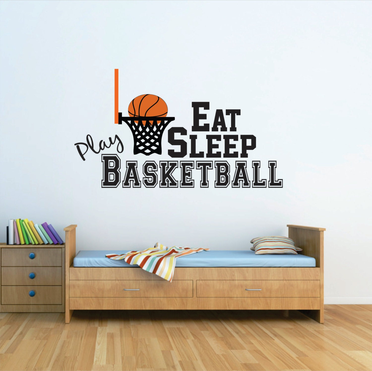 Basketball wall decal basketball nursery decal basketball for Basketball wall decals