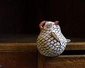Vintage Signed Zuni Owl Sculpture by Artist Nellie Bica Pueblo Indians