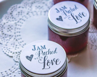 150/2 oz. Jam Wedding and Bridal Favors Private Label - L.A. FARM GIRL For Rustic Farm Barn Cottage Chic Ranch Boho Favors