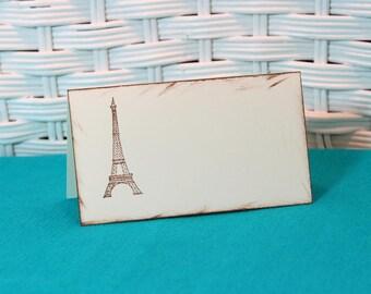 Handmade Set of 8 Eiffel Tower Paris Place Cards