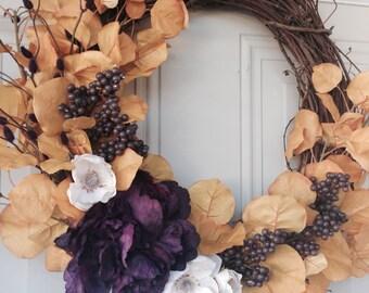 Wreath-door hanging-floral decor