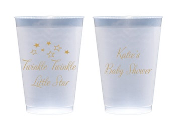 Twinkle Twinkle Little Star Personalized First Birthday / Baby Shower Plastic Cups - Set of 50