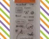 Polymer Stamp Set,Sincere Salutations, Travel Stamps, Bon Voyage, Be Mine, Just a Note,Scrapbook supplies,Cardmaking supplies,Planner Stamps