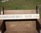 Personalized Farm Sign with Date or Embellishment